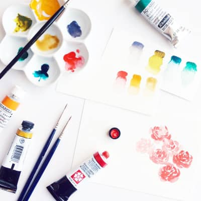 My happy hour every day is when I get to play with my watercolors. || www.mariorr.com