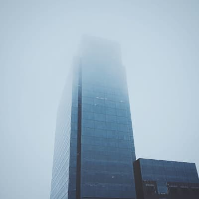 Disappearing into the fog