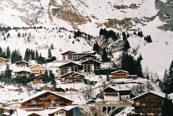 Chalets in the mountains