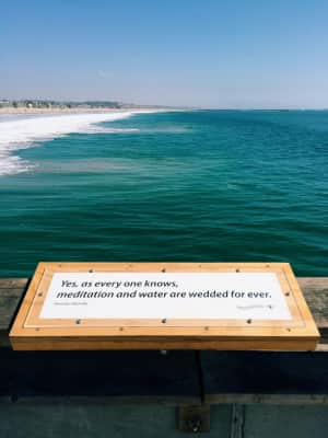 A quote on the Venice Pier