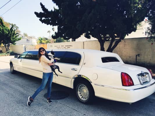 Sam and Kiley and their stretch limo