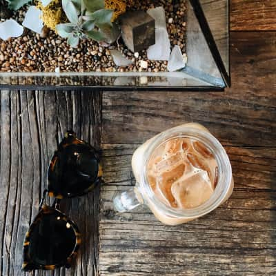 Ice coffee season is upon us in Toronto. Taken at Early Bird Espresso on Queen West.