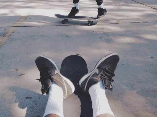 out skating one day...