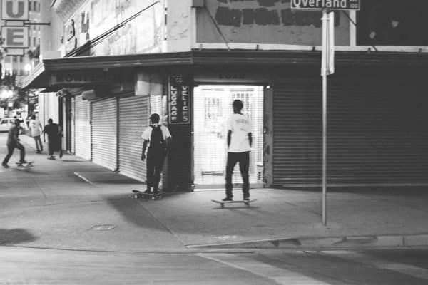 I took this picture in downtown El Paso, just some random people skating.