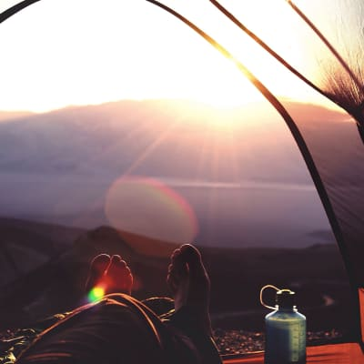 Waking up early is enjoyable when its to sunrise in the middle of nowhere from your tent