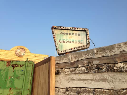 Welcome to Kiesgrube. Party/festival location in the summer.