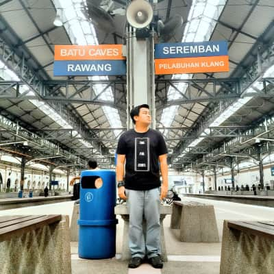 Railway Station which connect to every town at the middle of the Kuala Lumpur, Malaysia...