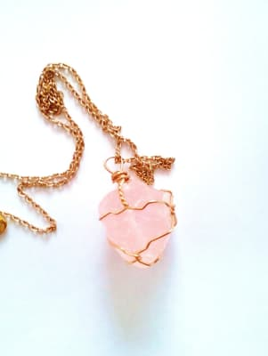 This is a Rose Quartz also known as the 'Love Stone'. It is said to be the stone of unconditional love . :)