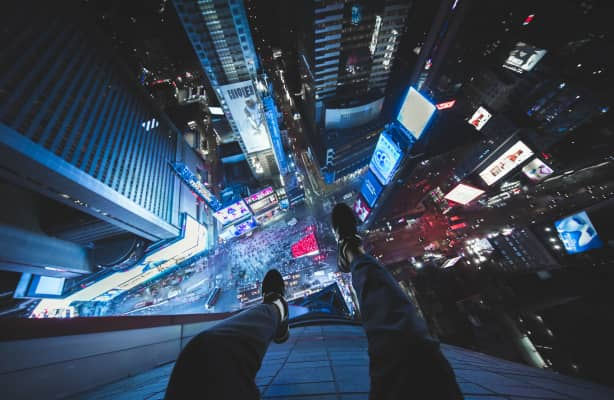 Time Square from above