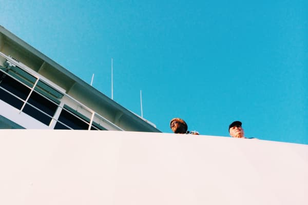 On a Boat awaiting Shore