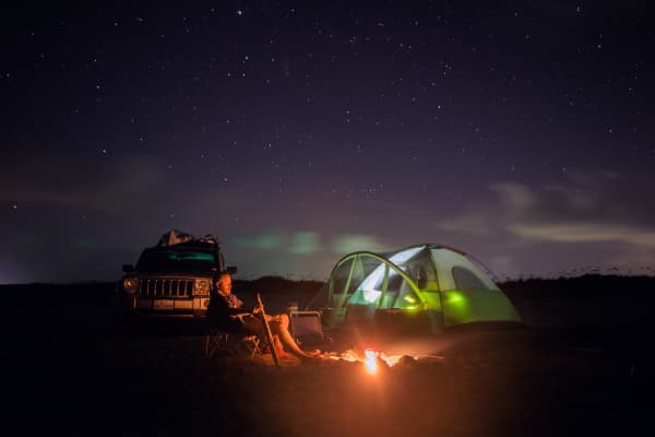 camping under the stars in Texas
