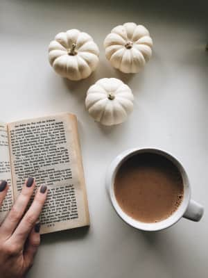 Afternoon chai and reading break in the Fall.
