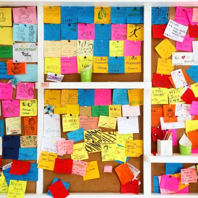 Before the facebook wall, there was the post it wall.