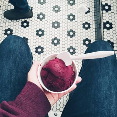 Simple & refreshing. Red current sorbet @ Morgenstern's Finest Ice Cream