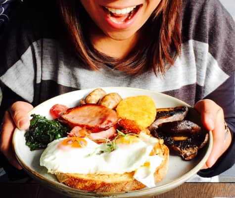 Over the teeth and past the gums, watch out stomach, here brunch comes!