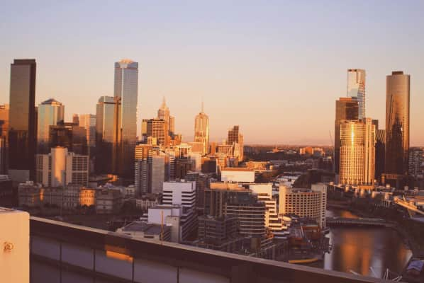 Hey Melbourne, how's it going. Shot from high rise in docklands as the sun sets behind me.