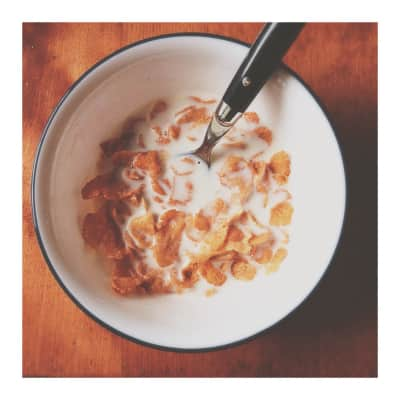 Corn flakes and cold weather.