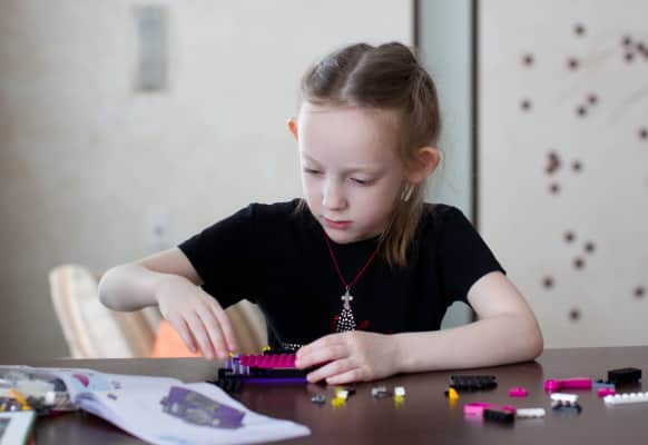 Girl collects LEGO
