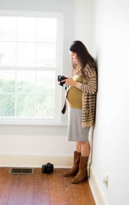 A mother and a photographer's work never ends.