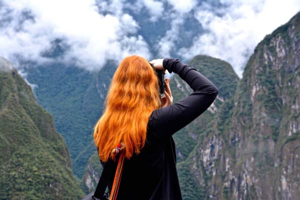 Photographer in the Andes