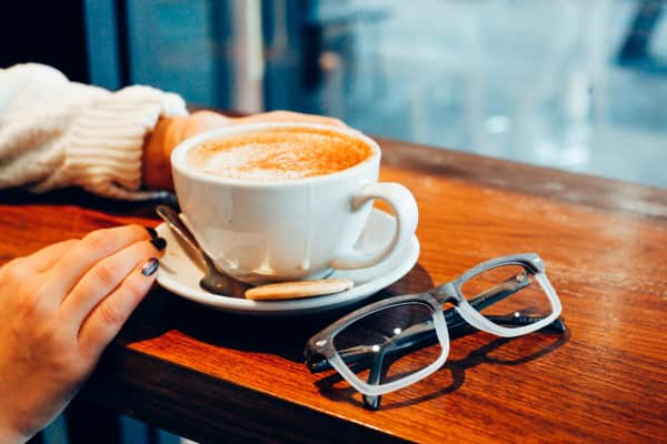 Coffee and glasses.