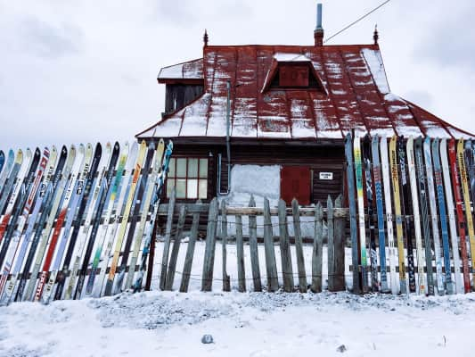 Mountain cabin fence...