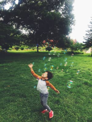 Bubbles in the park