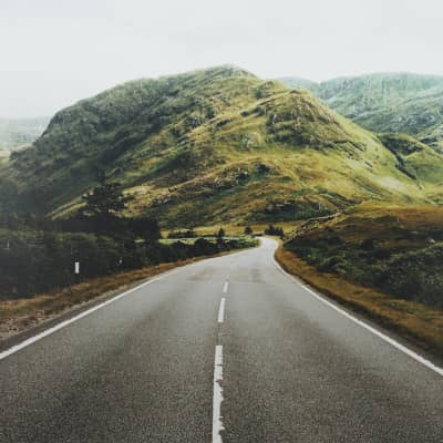 A drive through the Scottish Highlands