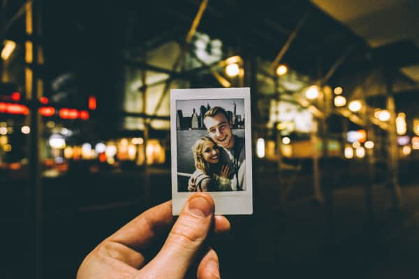 Photograph of a Polaroid in the city