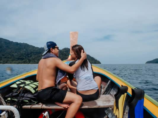 lovers on the boat
