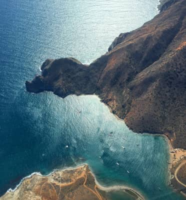 Aerial view of Catalina Island, CA.