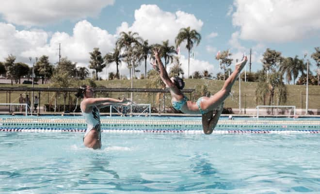 Synchronized Swimmers from Puerto Rico