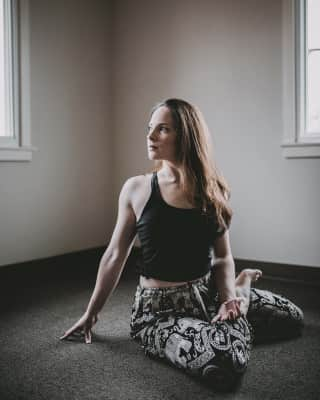 Yoga with natural lighting
