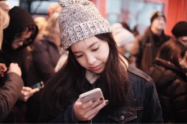Girl using mobile