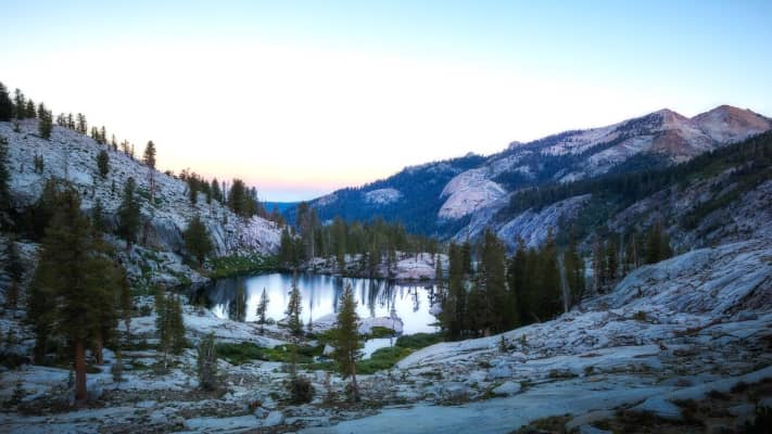 First morning light In sequoia backcountry