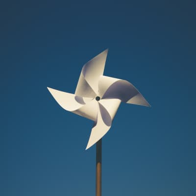 Pinwheel in a perfect day