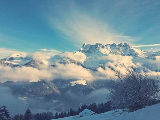 The view from the Chalet. Troitorrents, Switzerland.