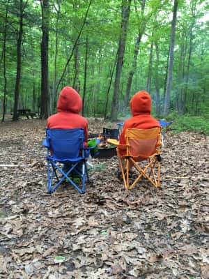 Watching the campfire