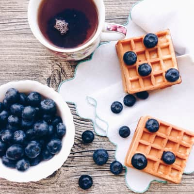 Blueberry and wafers