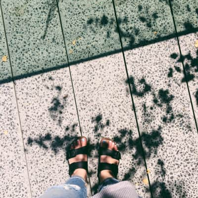 Walked the high line in my birks. Love days like today.