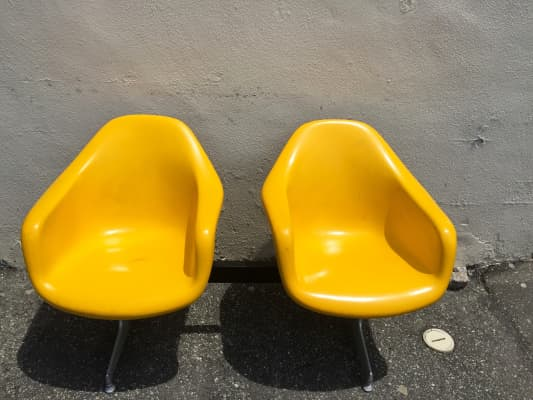 Yellow chairs in the sun