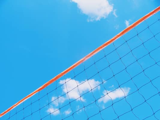 A simple image for inspiring outdoor activity. Blue sky, volleyball net, get out there!