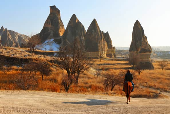 Cowboys really exist!! Cappadocia is known as the land of beautiful horses and is an ideal place for horse riding with a real Turkish cowboy!