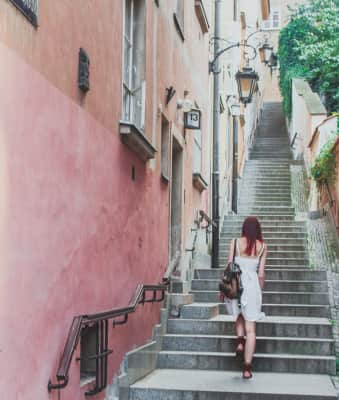 Stairs in the old town