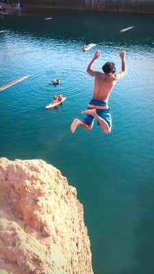Cliff jumping adventures in Chiang Mai, Thailand.