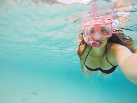Snorkeling in the Caribbean.