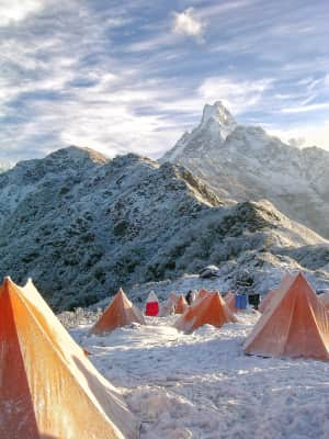 Camping in the Himalayas.....