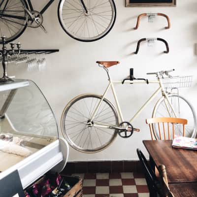 Bikes on the wall. 2016.