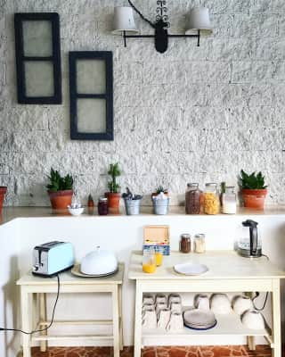 Cute and tidy kitchen area