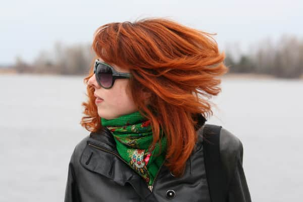 Red-haired girl.